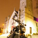 NS-Moto devant l'église