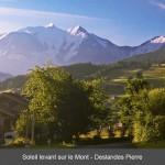 Combloux lever de soleil sur le Mt Blanc